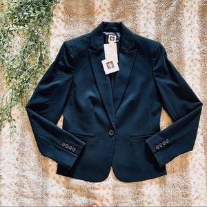 Ann Klein Midnight Sky Single Button Blue Blazer